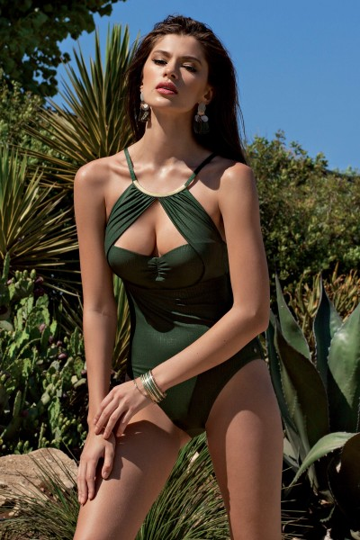 »Bari« High-neck One-Piece Swimsuit