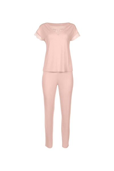 »Florianne« Short-sleeved Top and Long Bottoms Pyjamas