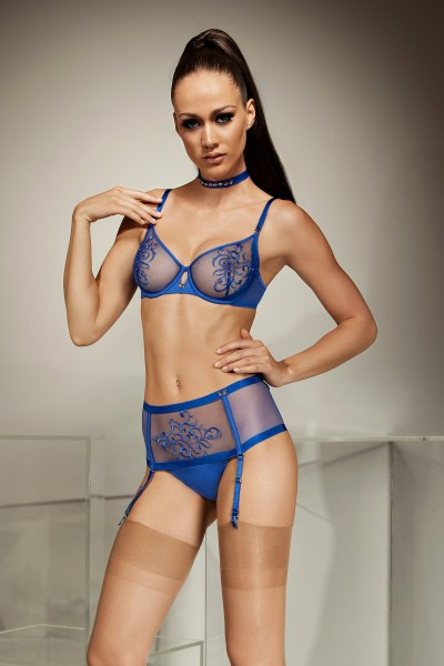 »Bluebell« High brazilian briefs with suspenders
