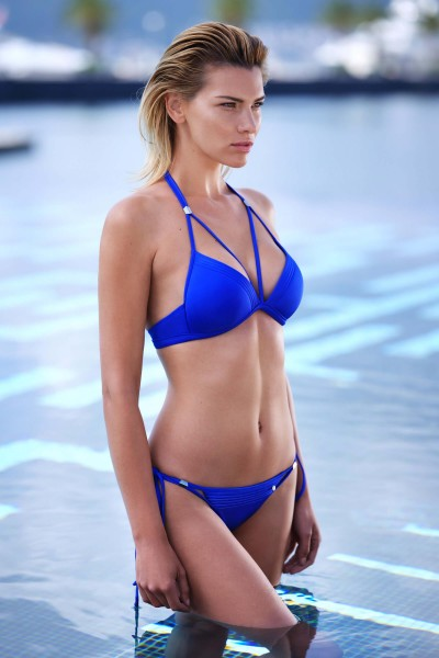 """Navarre Beach"" Non-wired Push-up Triangle Bikini Top"