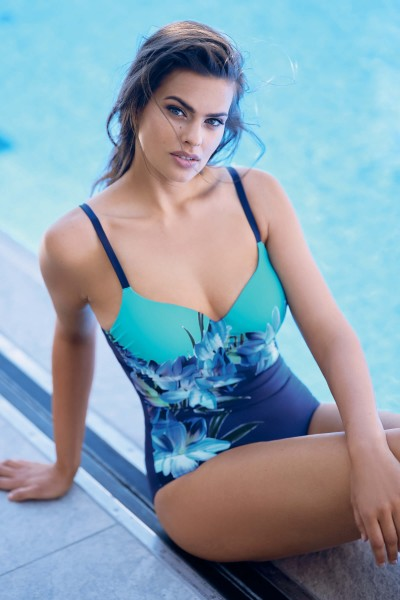 """Egina"" Padded One-Piece Swimsuit"
