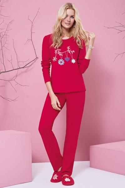 """""""Beauty"""" Long Sleeve Pyjama Set"""