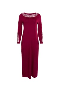 »Ruby« Long Nightdress with long Sleeves