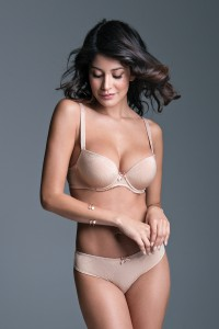 """Lorella"" Push up Bra  - LIGHT GEL"
