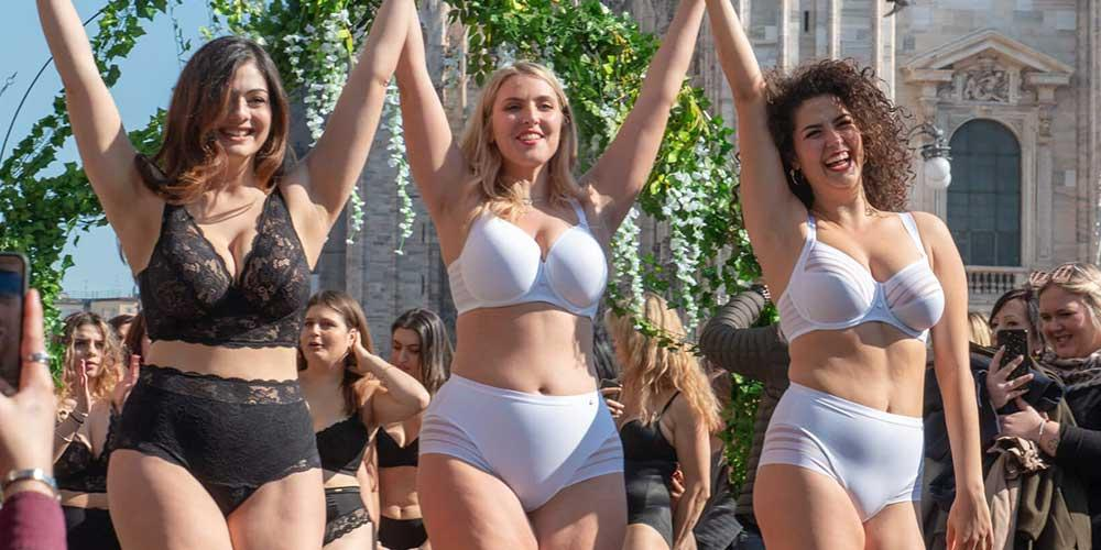 Body Positive Catwalk with Lisca in Milan