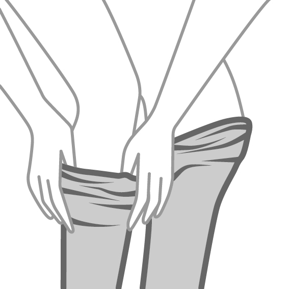 Putting on tights properly - STEP 3